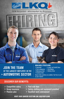 LKQ Dominion Auto Now Hiring